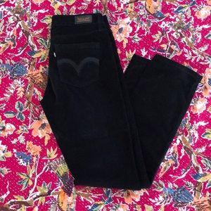 EUC black velvety Levi's! Mid Rise Skinny, Sz 4